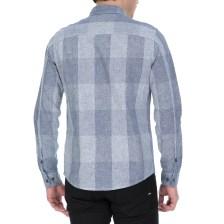 CALVIN KLEIN JEANS - Ανδρικό μακρυμάνικο καρό πουκάμισο Calvin Klein Jeans μπλε
