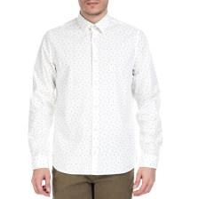 GARCIA JEANS - Ανδρικό πουκάμισο GARCIA JEANS λευκό μοτίβο