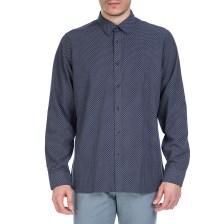 TED BAKER - Ανδρικό μακρυμάνικο πουκάμισο Ted Baker σκούρο μπλε με print
