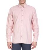 TED BAKER - Ανδρικό μακρυμάνικο πουκάμισο Ted Baker ροζ με print image