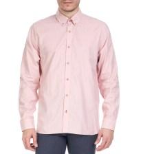 TED BAKER - Ανδρικό μακρυμάνικο πουκάμισο Ted Baker ροζ με print