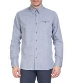 TED BAKER - Ανδρικό μακρυμάνικο πουκάμισο Ted Baker μπλε με print image