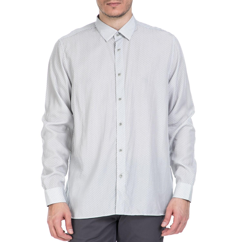 TED BAKER - Ανδρικό μακρυμάνικο πουκάμισο Ted Baker λευκό με print