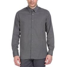 TED BAKER - Ανδρικό πουκάμισο Ted Baker μαύρο - λευκό