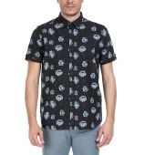 TED BAKER - Ανδρικό κοντομάνικο πουκάμισο Ted Baker μαύρο με print image