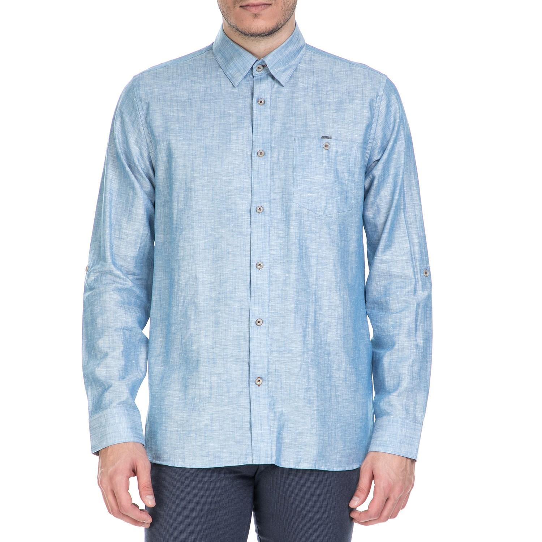 TED BAKER - Ανδρικό μακρυμάνικο πουκάμισοTed Baker γαλάζιο