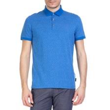 TED BAKER - Ανδρική κοντομάνικη polo μπλούζα Ted Baker μπλε