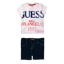 GUESS KIDS - Παιδικό σετ Guess Kids τζιν σορτς και t-shirt