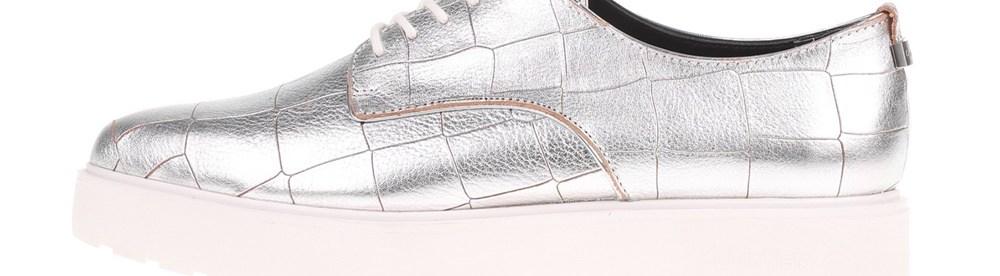 CALVIN KLEIN JEANS - Γυναικεία παπούτσια CALVIN KLEIN JEANS VICTORINA ασημί