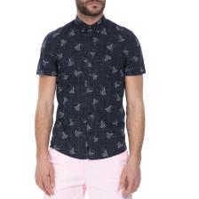 GUESS - Ανδρικό κοντομάνικο πουκάμισο GUESS μπλε