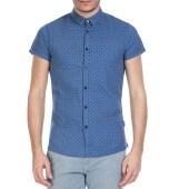 GUESS - Ανδρικό κοντομάνικο πουκάμισο GUESS μπλε image