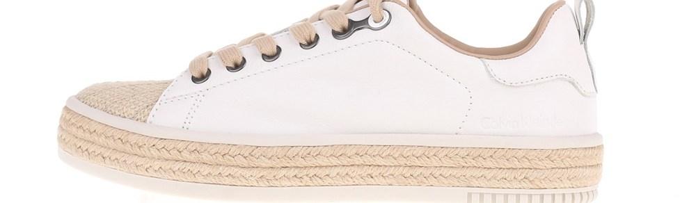 CALVIN KLEIN JEANS - Γυναικεία sneakers APPLE CALVIN KLEIN JEANS λευκά