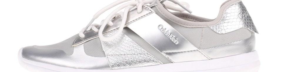 CALVIN KLEIN JEANS - Γυναικεία sneakers IDEN CALVIN KLEIN JEANS ασημί