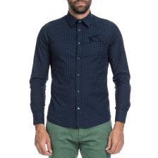GAS - Ανδρικό πουκάμισο SASHA C/8 LEAVES F GAS μπλε