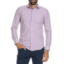 GAS - Ανδρικό πουκάμισο SIR C/8 PENCIL GAS λευκό-μωβ