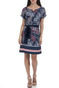 GAS - Γυναικείο φόρεμα GAS VESTITI MAISHA JAPAN FLOWERS μπλε