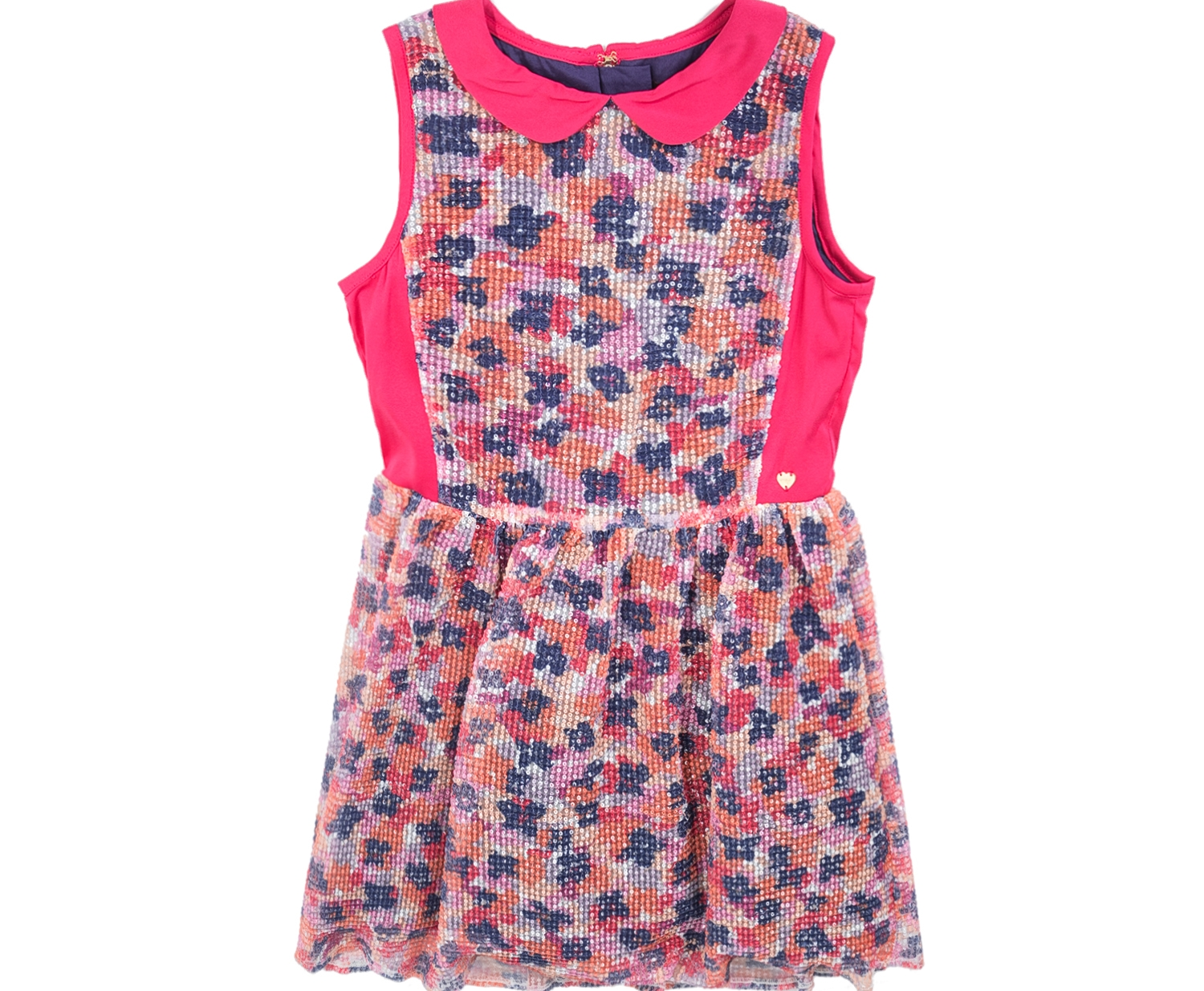 JUICY COUTURE KIDS - Φόρεμα JUICY COUTURE NOVEAU FLORAL SEQUIN PARTY με φλοράλ μοτίβο