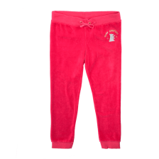 JUICY COUTURE KIDS - Κοριτσίστικο παντελόνι φόρμας JUICY COUTURE WORLD FAMOUS ZUMA ροζ