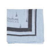 Juicy Couture JUICY COUTURE - Γυναικείο φουλάρι Juicy Couture απαλό γαλάζιο με σχέδια 2018
