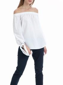 MAISON SCOTCH - Μπλούζα Off the shoulder MAISON SCOTCH λευκή