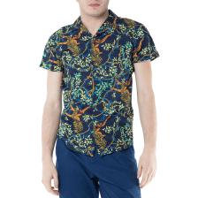 SCOTCH & SODA - Ανδρικό κοντομάνικο πουκάμισο Scotch & Soda μπλε με print