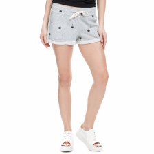 JUICY COUTURE - Γυναικείο σορτς Juicy Couture PALM TREE TERRY ROLL γκρι