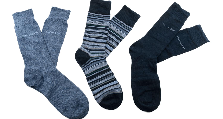 CK UNDERWEAR - Ανδρικό σετ κάλτσες Calvin Klein MULTI STRIPE GIFT BOX μπλε