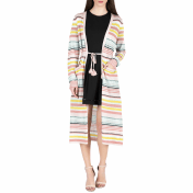 Juicy Couture JUICY COUTURE - Γυναικεία ζακέτα LUREX STRIPE CARDIGAN JUICY COUTURE ριγέ 2018