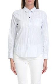 SCOTCH & SODA - Γυναικείο πουκάμισο MAISON SCOTCH λευκό-μπλε