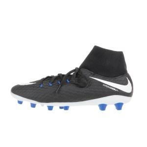NIKE - Ανδρικά ποδοσφαιρικά παπούτσια NIKE HYPERVENOM PHELON 3 DF AGPRO μαύρα-λευκά