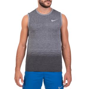NIKE - Ανδρική αθλητική αμάνικη μπλούζα NIKE DF KNIT TOP SL γκρι a1aa7d0e305