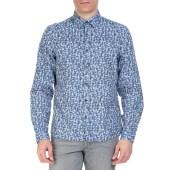 CK - Ανδρικό πουκάμισο CK GALEN μπλε με μοτίβο image