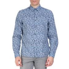 CK - Ανδρικό πουκάμισο CK GALEN μπλε με μοτίβο