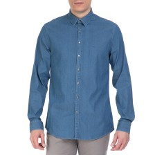 CK - Ανδρικό πουκάμισο CK MARSEILLE ντένιμ μπλε