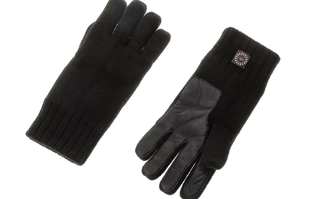 UGG - Ανδρικά γάντια UGG μαύρα