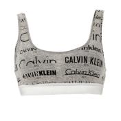 CK UNDERWEAR CK UNDERWEAR - Γυναικείο αθλητικό σουτιέν CK UNDERWEAR BRALETTE LIGHTLY LINED γκρι-μαύρο 2018