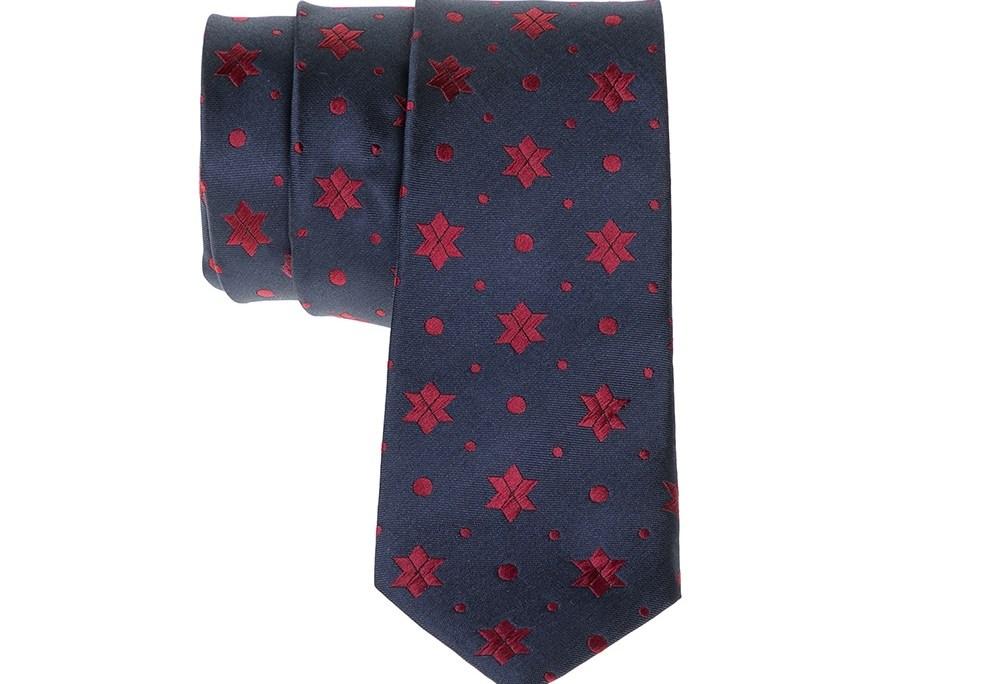 SCOTCH & SODA - Ανδρική γραβάτα SCOTCH & SODA μπλε-κόκκινη