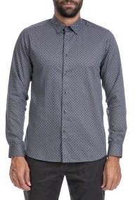 TED BAKER - Ανδρικό πουκάμισο LAROSH TED BAKER λευκό-μαύρο