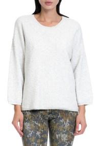 GARCIA JEANS - Γυναικείο πουλόβερ GARCIA JEANS λευκό