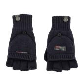 FRANKLIN & MARSHALL - Unisex πλεκτά γάντια FRANKLIN & MARSHALL μπλε image