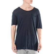 56d04ec305a9 AMERICAN VINTAGE - Ανδρική κοντομάνικη μπλούζα AMERICAN VINTAGE μπλε