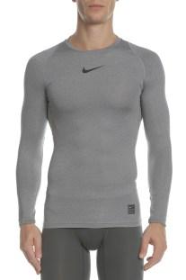 NIKE - Μακρυμάνικη μπλούζα NIKE TOP LS COMP γκρι