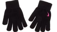 NIKE ACCESSORIES - Κοριτσίστικα γάντια NIKE YA SWOOSH KNIT μαύρα
