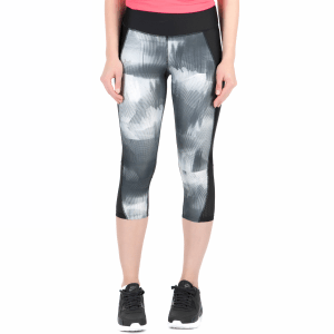 19bed281d4e9 UNDER ARMOUR - Γυναικείο κάπρι κολάν UNDER ARMOUR Fly By Printed ασπρόμαυρο