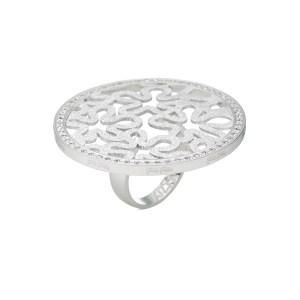 FOLLI FOLLIE - Γυναικείο επάργυρο δαχτυλίδι με μοτίφ FOLLI FOLLIE ασημί