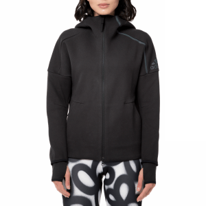 adidas - Γυναικεία αθλητική ζακέτα με κουκούλα adidas FZ HOODY μαύρη