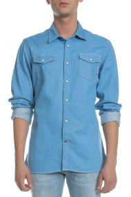 SCOTCH & SODA - Ανδρικό τζιν πουκάμισο Scotch & Soda μπλε