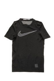 NIKE - Αγορίστικη κοντομάνικη μπλούζα NIKE NP TOP SS COMP μαύρη