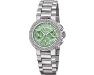 FOLLI FOLLIE - Γυναικείο ρολόι με μπρασελέ FOLLI FOLLIE ασημί πράσινο