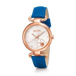 FOLLI FOLLIE - Γυναικείο ρολόι με δερμάτινο λουράκι FOLLI FOLLIE HEART 4 HEART μπλε